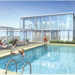 The Shores rooftop pool Oakville - luxury condos