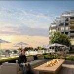 BluWater Condos Oakville - Luxury Waterfront Condominium - exterior rendering patio