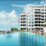BluWater Condos Oakville - Luxury Waterfront Condominium - exterior rendering pool
