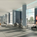 BluWater Condos Oakville - Luxury Waterfront Condominium - interior rendering fitness centre