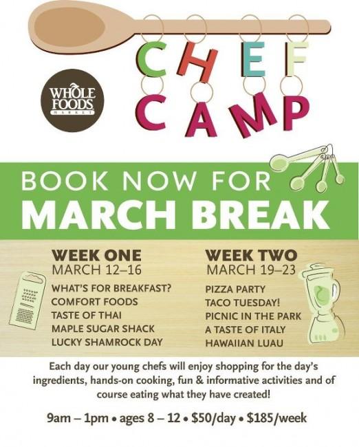 Oakville march break camp kids whole foods cooking