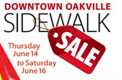 Downtown Oakville Sidewalk Sale June 14-16 2012