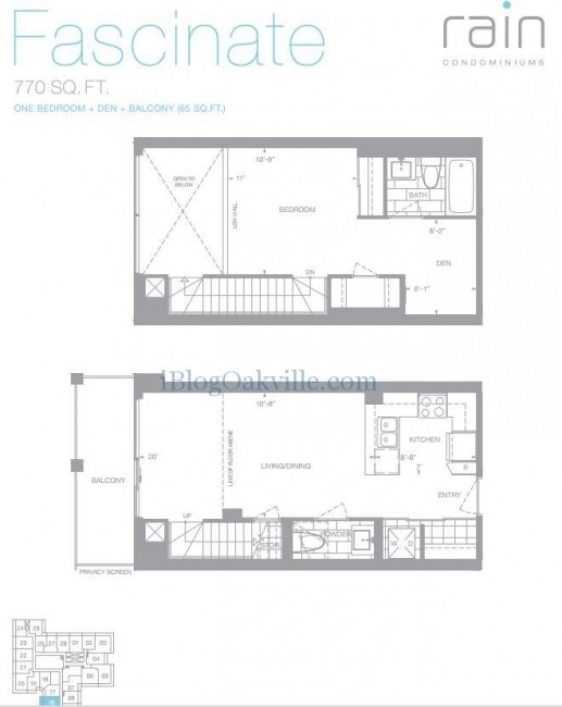 Fascinate Loft - 1 bedroom + den 770sf