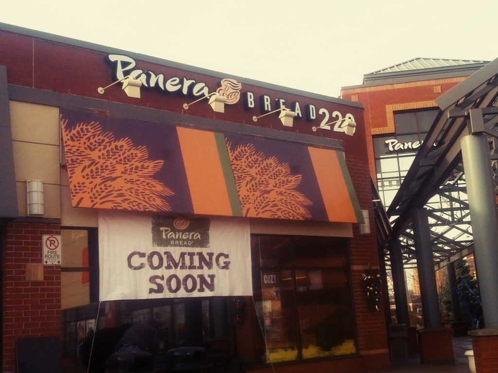 Panera Bread opening soon at dorval crossing oakville