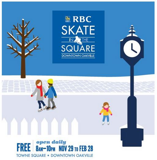 Downtown Oakville - RBC Skate in the Square Downtown Oakville