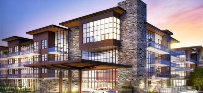 The Craftsman Condos Mississauga - lakeshore rd - condo exterior building main entrance rendering