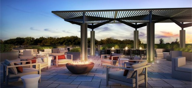 The Craftsman Condos Mississauga - lakeshore rd - condo exterior rendering terraces greenspace