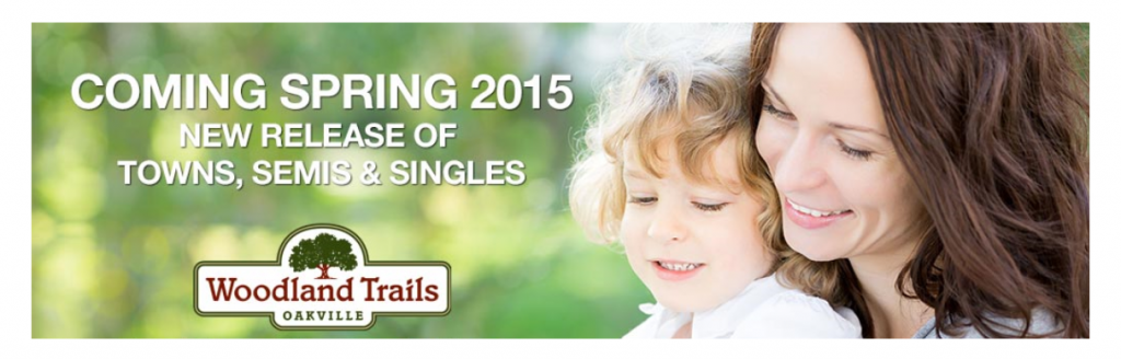 Woodland Trails Coming spring 2015 - new townhomes and homes for sale in north oakville